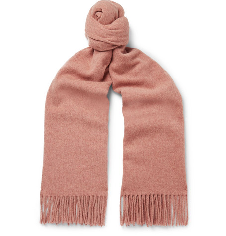 Acne Studios – Canada Fringed Mélange Wool Scarf – Pink