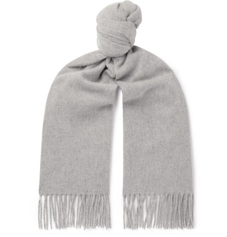 Acne Studios – Canada Fringed Mélange Wool Scarf – Gray