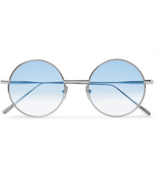 Acne Studios Scientist Round-Frame Matte-Metal Sunglasses