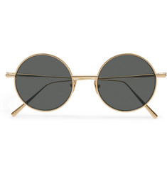 Acne Studios Scientist Round-Frame Gold-Tone Sunglasses