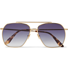 Acne Studios Anteom Aviator-Style Gold-Tone and Tortoiseshell Acetate Sunglasses