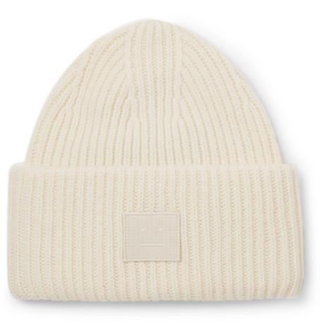 Acne Studios – Ribbed Wool Beanie – White