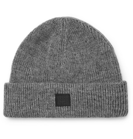 Acne Studios – Ribbed Wool-blend Beanie – Gray