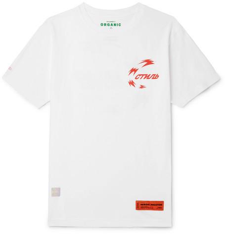 Heron Preston - Printed Organic Cotton-Jersey T-Shirt