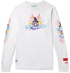 Heron Preston Oversized Printed Organic Cotton-Jersey T-Shirt