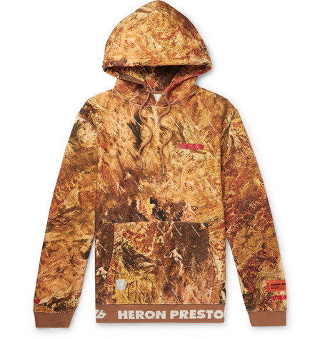 Oversized Printed Loopback Cotton Jersey Hoodie by Heron Preston