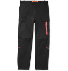 Heron Preston Embroidered Cotton Cargo Trousers