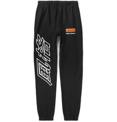 Heron Preston Tapered Printed Loopback Cotton-Jersey Sweatpants