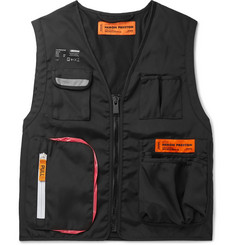 Heron Preston Reflective-Trimmed Canvas Gilet