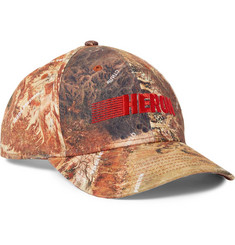 Heron Preston Embroidered Printed Cotton-Twill Baseball Cap