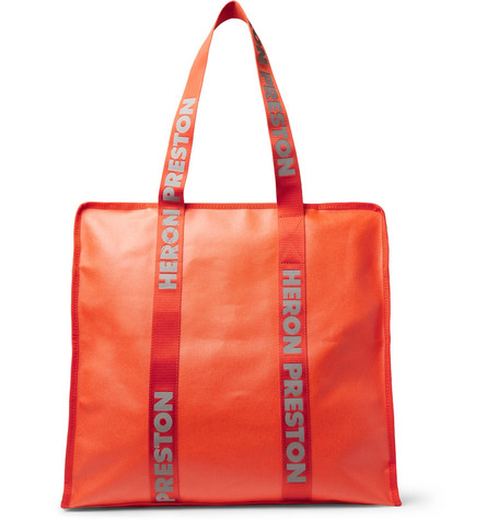 c5aefd86845738 Heron Preston - Logo-Print Shell Tote Bag