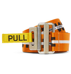 Heron Preston 4cm Bright-Orange Jacquard Webbing Belt
