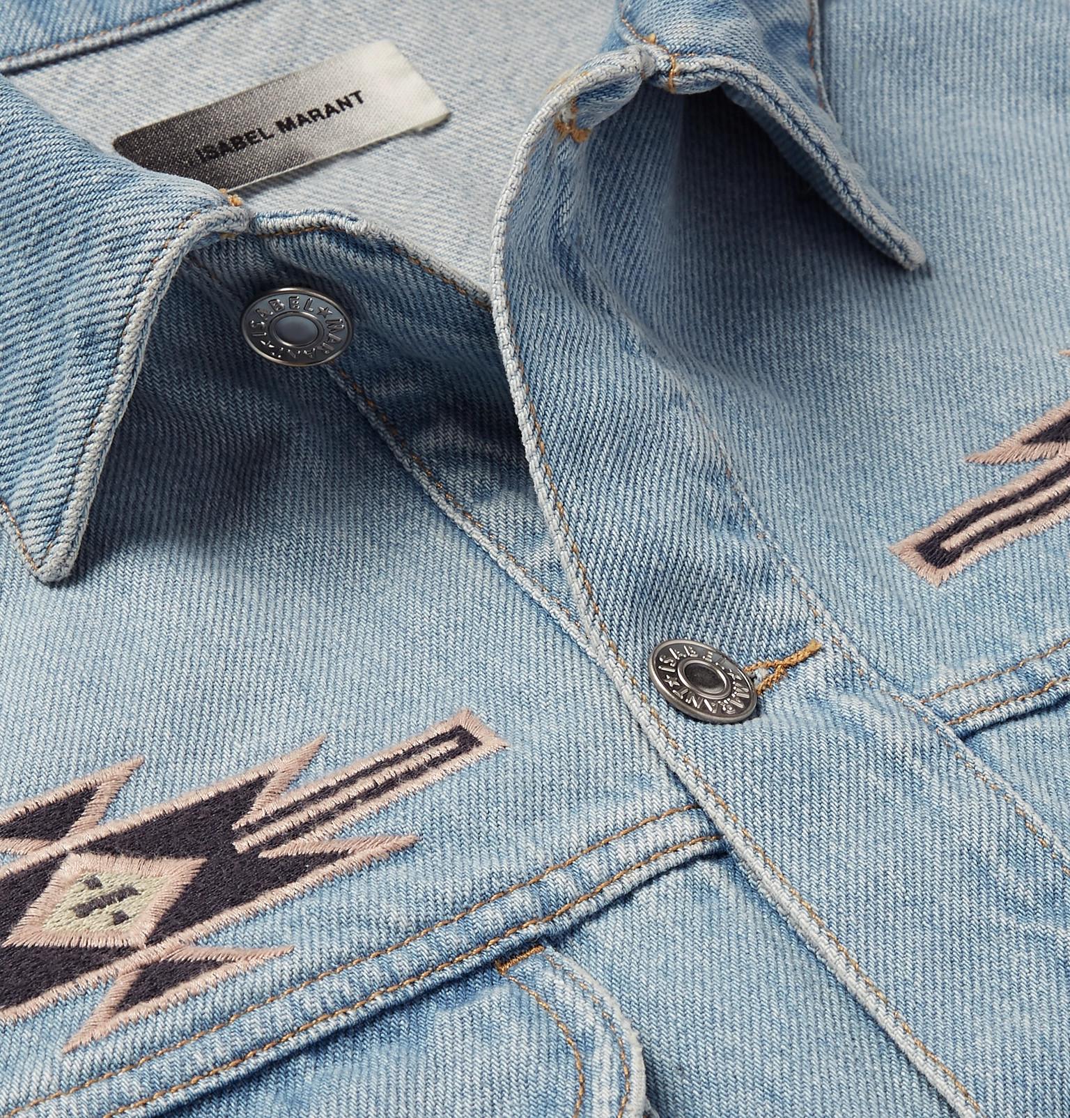 133a0dfd217 Isabel Marant - Jango Embroidered Denim Jacket