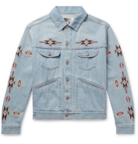 33ed287079520 Isabel Marant - Jango Embroidered Denim Jacket