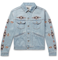 Isabel Marant Jango Embroidered Denim Jacket