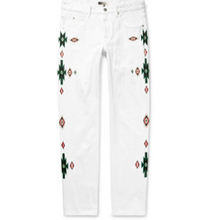 Isabel Marant Jasper Embroidered Denim Jeans