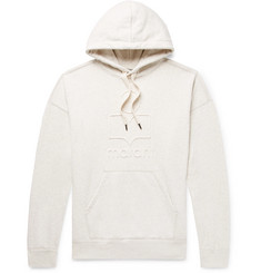 Isabel Marant Miley Logo-Embossed Mélange Fleece-Back Cotton-Blend Jersey Hoodie