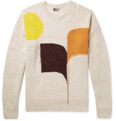 Isabel Marant Steenlee Frayed Alpaca-Blend Sweater