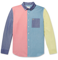 Aimé Leon Dore Button-Down Collar Colour-Block Cotton Oxford Shirt