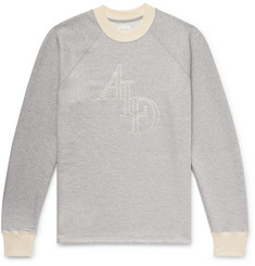 Aimé Leon Dore Logo-Embroidered Mélange Loopback Cotton-Jersey Sweatshirt
