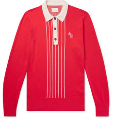 Aimé Leon Dore Slim-Fit Logo-Embroidered Knitted Cotton Rugby Shirt