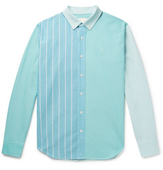 Aimé Leon Dore Slim-Fit Button-Down Collar Colour-Block Cotton Oxford Shirt