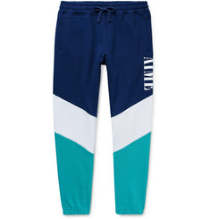 Aimé Leon Dore Tapered Logo-Print Colour-Block Loopback Cotton-Jersey Sweatpants