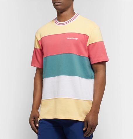 Logo Embroidered Colour Block Cotton Jersey T Shirt by Aimé Leon Dore