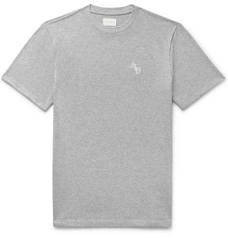 9a478a9b7957a Aimé Leon Dore - Logo-Embroidered Mélange Cotton-Jersey T-Shirt