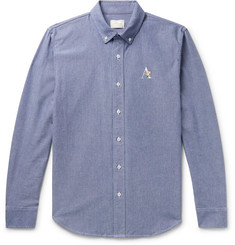 Aimé Leon Dore Button-Down Collar Logo-Embroidered Cotton Oxford Shirt