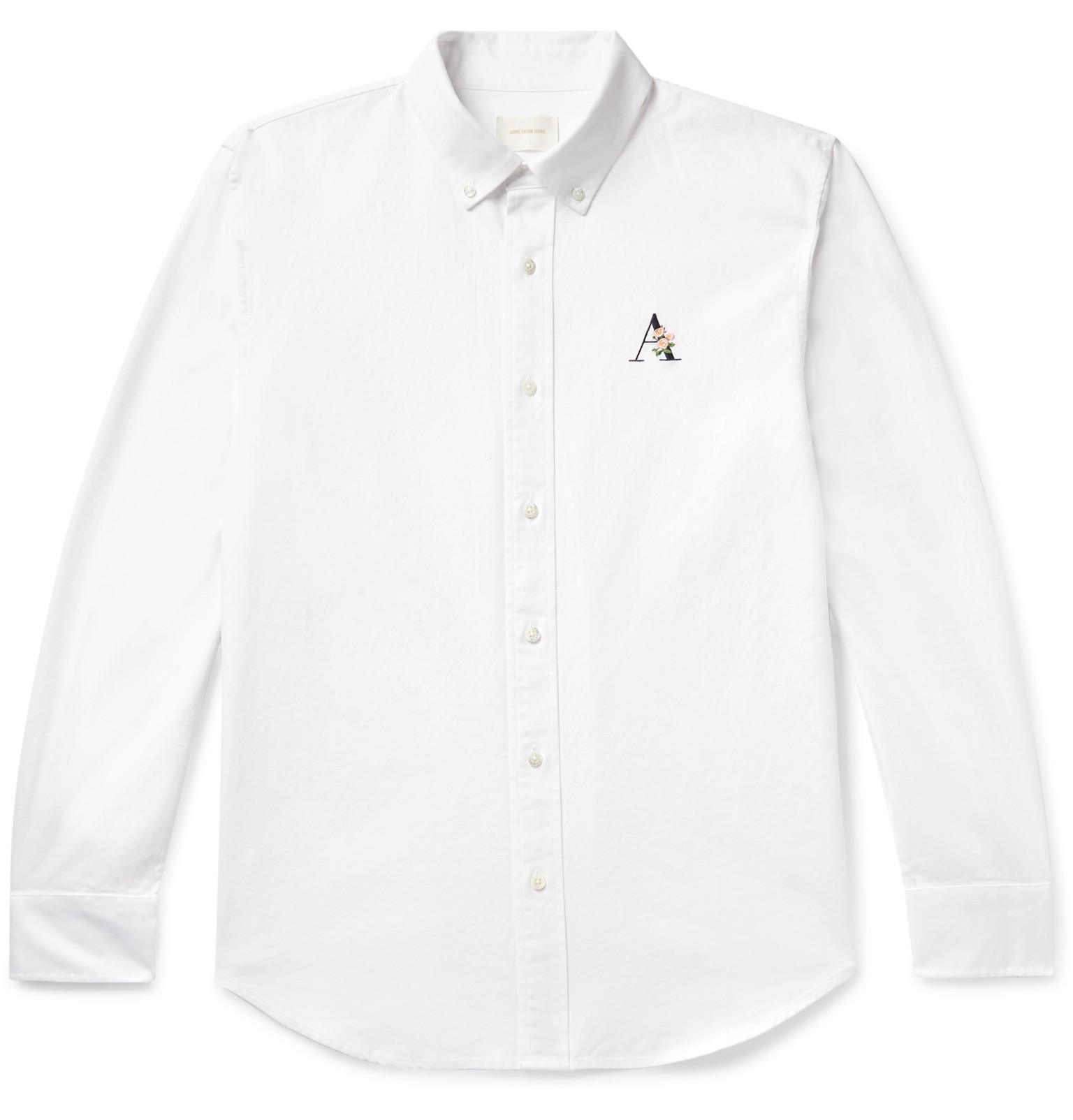 1d208703 Aimé Leon DoreButton-Down Collar Logo-Embroidered Cotton Oxford Shirt