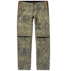 Resort Corps Webbing-Trimmed Camouflage-Print Cotton-Blend Trousers