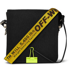 Off-White Cotton-Twill Messenger Bag