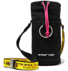 Off-White - Logo-Print Cotton-Twill Bottle Carrier