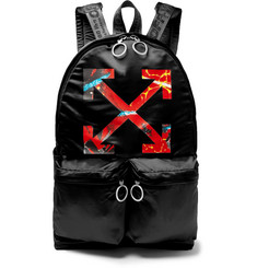 Off-White - Printed Satin Backpack