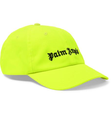 622f92b5b2e5a Palm Angels Logo-Embroidered Neon Twill Baseball Cap - Yellow - One Siz