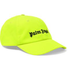 Logo-embroidered Neon Twill Baseball Cap - Yellow