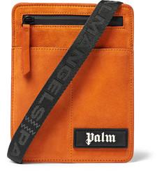 Suede Messenger Bag - Orange