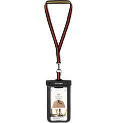 Palm Angels Logo-Print PVC and Faux Leather Smartphone Lanyard Case