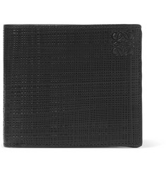 Loewe - Embossed Cross-Grain Leather Billfold Wallet