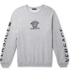 Versace Oversized Logo-Embroidered Loopback Cotton-Jersey Sweatshirt