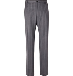 Versace Grey Pinstriped Wool Suit Trousers
