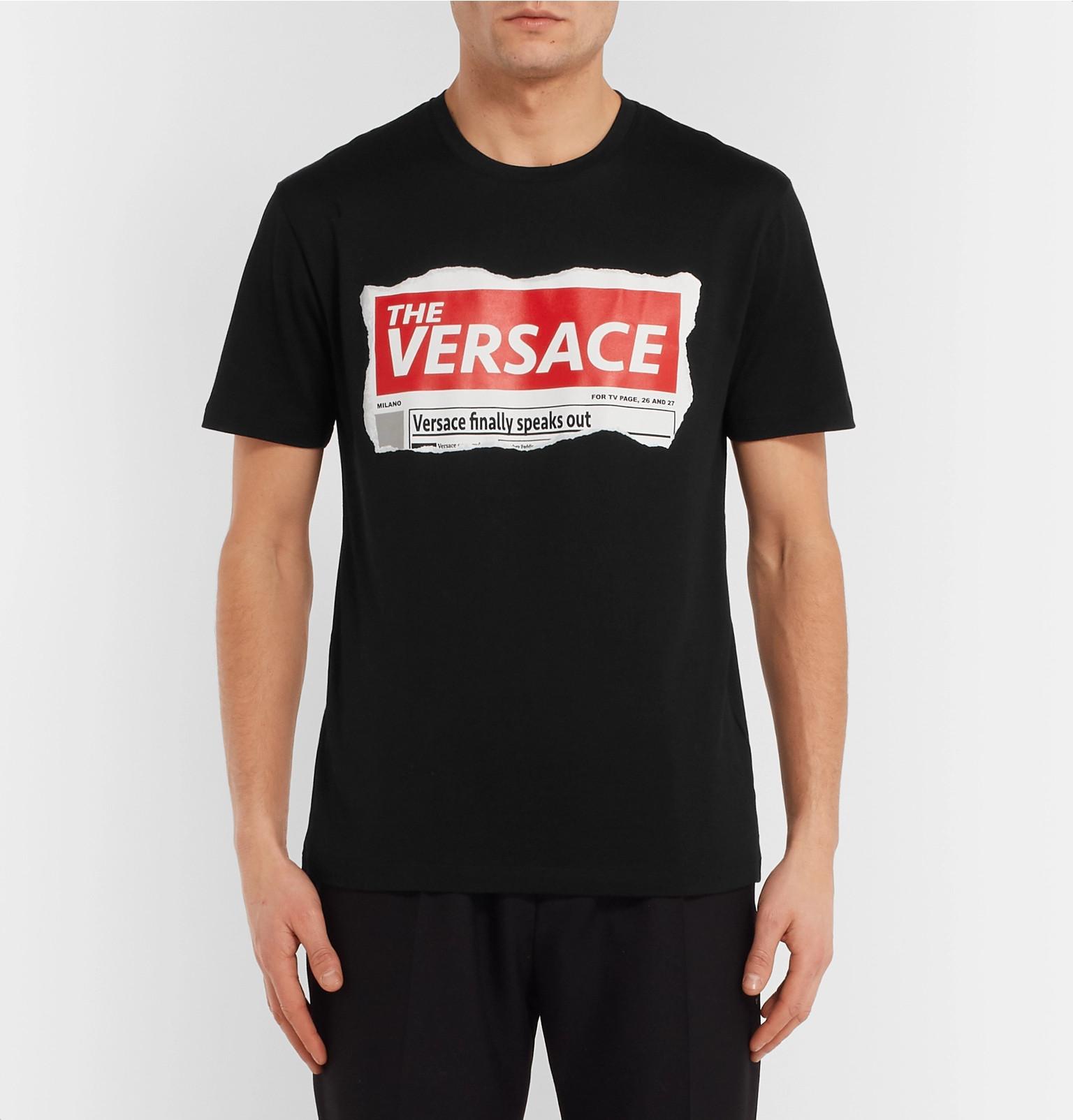 b7bcc2a6a Versace - Logo-Print Cotton-Jersey T-Shirt