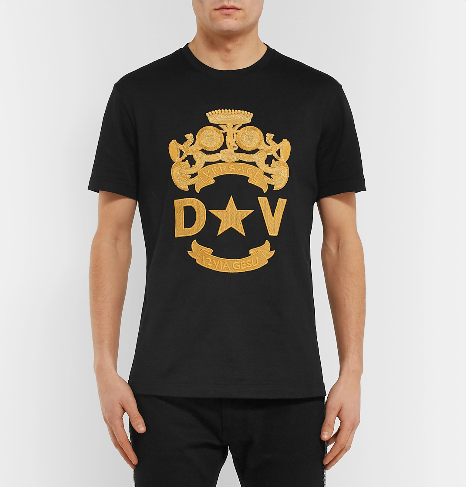 f5acb10b Versace Jeans Embroidered Logo T Shirt | Saddha