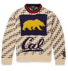 CALVIN KLEIN 205W39NYC Oversized Bear-Intarsia Wool-Blend Sweater