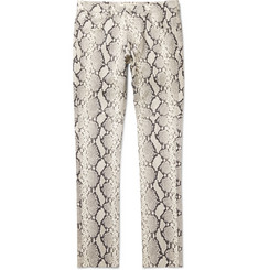 1017 ALYX 9SM Slim-Fit Snake-Print Leather Trousers