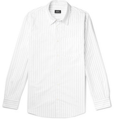 A.P.C. Jeff Pinstriped Cotton Oxford Shirt