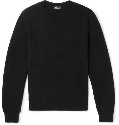 A.P.C. | A.P.C. - Colin Wool And Cotton-blend Sweater - Black | Goxip