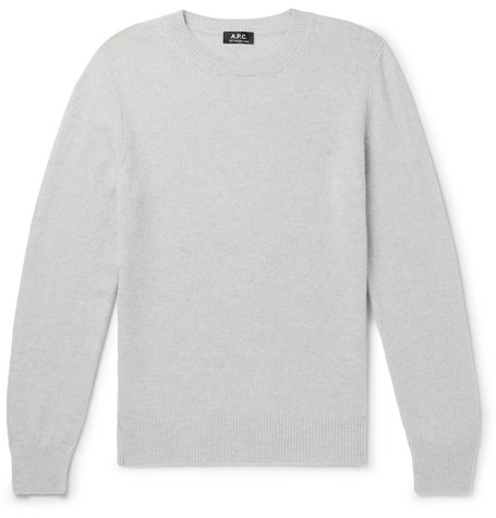 A.P.C. | A.P.C. - Colin Wool And Cotton-blend Sweater - Gray | Goxip