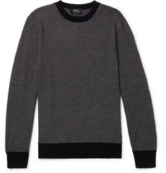 A.P.C. Alphonse Striped Wool-Blend Sweater